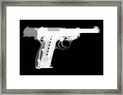 Walther P38 Reverse Framed Print by Ray Gunz