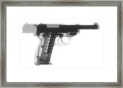 Walther P38 X-ray Photograph Framed Print by Ray Gunz