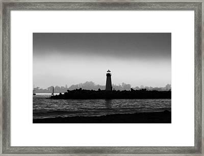 Walton Lighthouse Bw Framed Print by Deana Glenz
