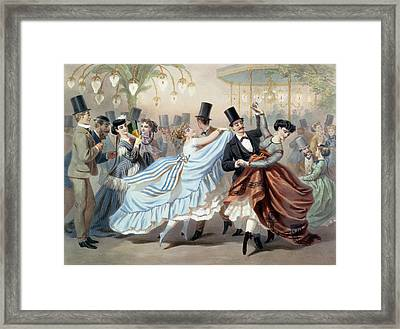 Waltz At The Bal Mabille Avenue Montaigne Paris Framed Print by Charles Vernier