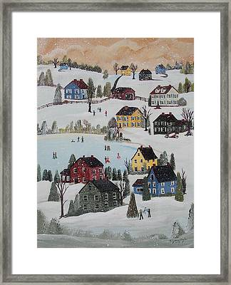 Waltzing Snow Framed Print