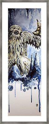 Wampa Framed Print by David Kraig
