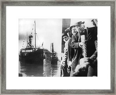 Wanamaker's Ship Mercy Framed Print by Underwood Archives