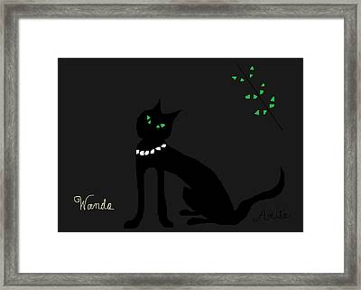 Wanda In The Grotto Framed Print