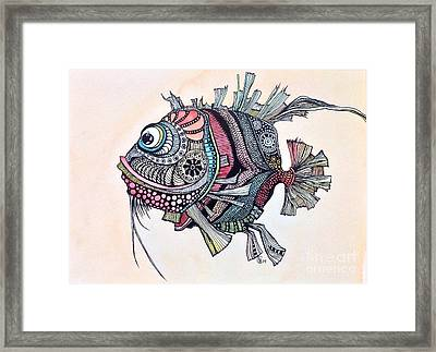 Wanda The Fish Framed Print by Iya Carson