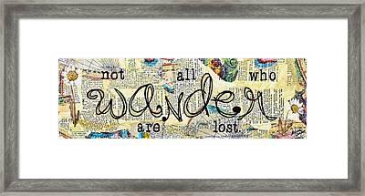 Wander Framed Print