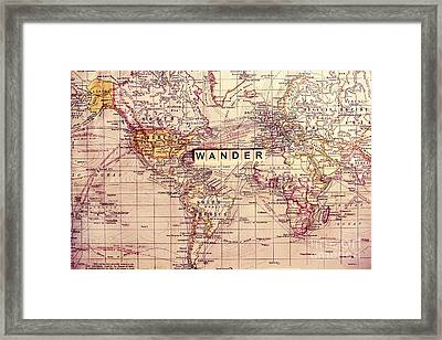 Wander Framed Print by Sylvia Cook