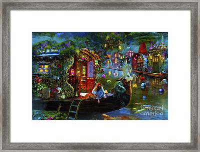 Wanderer's Cove Framed Print by Aimee Stewart