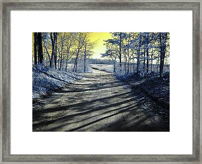 Wandering Alice Is Wondering Framed Print by Luke Moore
