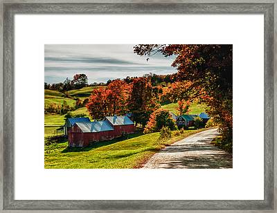 Wandering Down The Road Framed Print by Jeff Folger