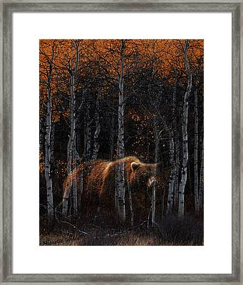 Wandering Ghost Bear Framed Print by Wishes and Whims Originals By Michelle Jensen