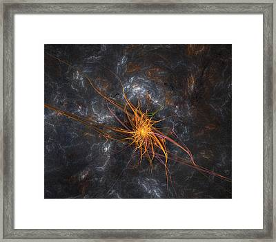Wandering In Space Framed Print by Bijan Studio
