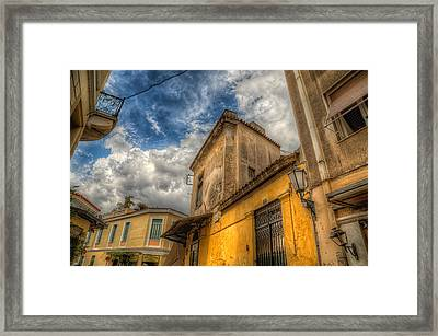 Framed Print featuring the photograph Wandering The Streets Of Athens by Micah Goff