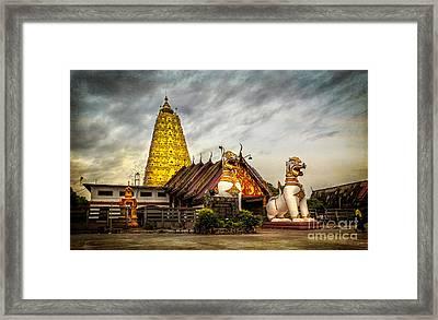 Wang Wiwekaram Temple Framed Print