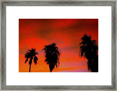Wang's Sunsets 3 Framed Print