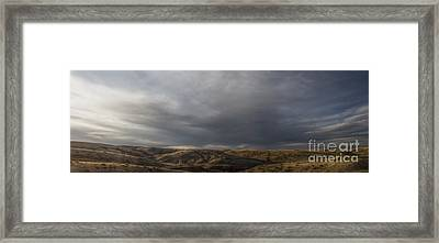 Waning Light On The Hills Of South Dakota Framed Print