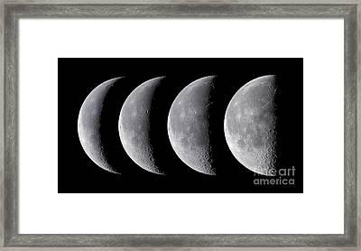 Waning Moon Series Framed Print