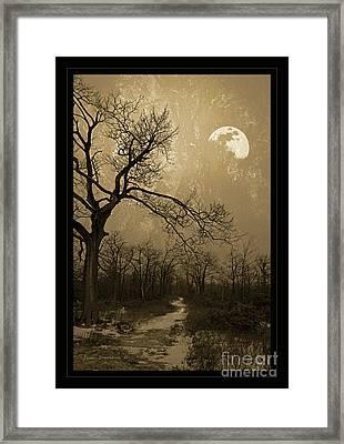 Waning Winter Moon Framed Print