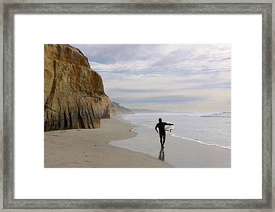 Wanted  Big Wave Framed Print