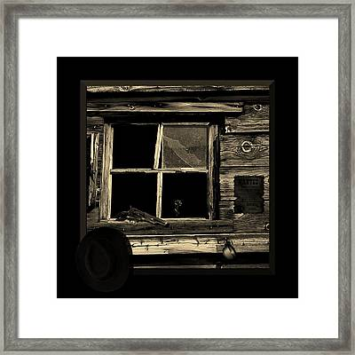 Wanted Dead Or Alive Framed Print by Barbara St Jean