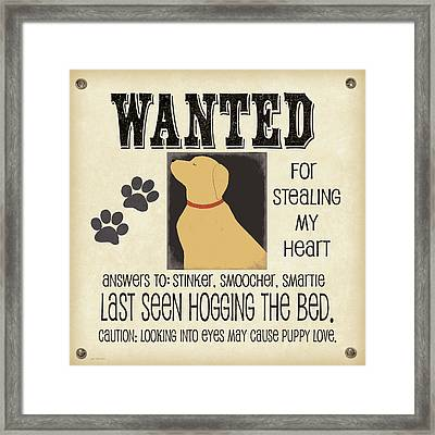 Wanted Framed Print by Jo Moulton