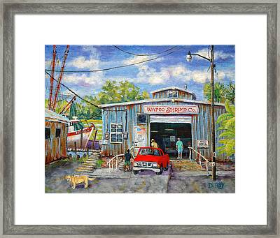 Wapoo Shrimp Company Framed Print by Dwain Ray