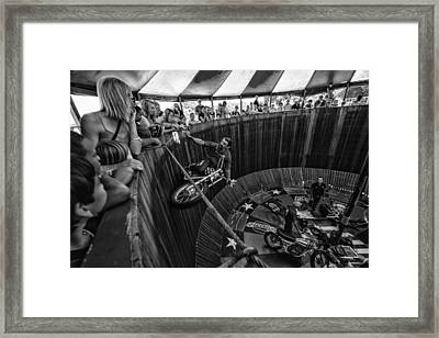Wall Of Death Framed Print