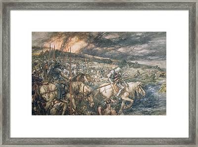 War  After The Battle Framed Print by Sir John Gilbert