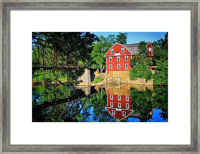 War Eagle Mill And Bridge - Arkansas Framed Print by Gregory Ballos