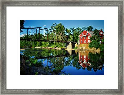 War Eagle Mill And Bridge Framed Print by Gregory Ballos