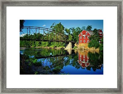 War Eagle Mill And Bridge Framed Print