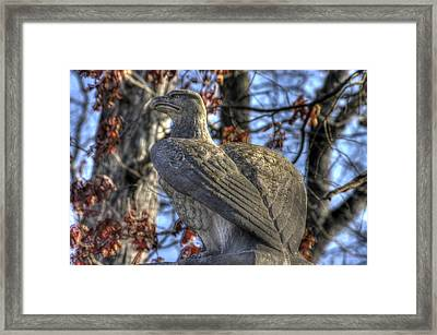 War Eagles - 28th Massachusetts Volunteer Infantry Rose Woods Near The Wheatfield Winter Gettysburg Framed Print