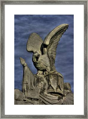 War Eagles - 88th Pa Volunteer Infantry Cameron Light Guard-a1 Oak Hill Autumn Gettysburg Framed Print by Michael Mazaika