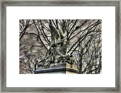 War Eagles - 88th Pa Volunteer Infantry Cameron Light Guard-d1 Oak Hill Autumn Gettysburg Framed Print by Michael Mazaika