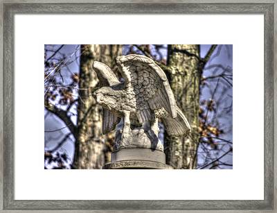 War Eagles - Vermont Company F 1st U. S. Sharpshooters-a1 Pitzer Woods Gettysburg Framed Print by Michael Mazaika