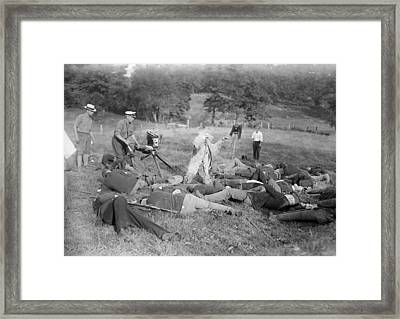 War Film Production, Early 20th Century Framed Print by Science Photo Library