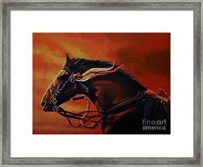 War Horse Joey  Framed Print