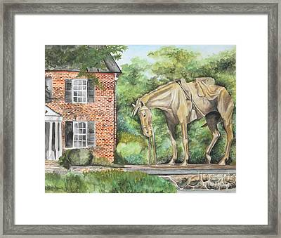 War Horse Memorial Framed Print