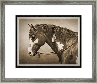 War Horse Old Photo Fx Framed Print