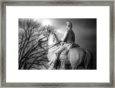 War Horses - 8th Pennsylvania Cavalry Regiment Pleasonton Avenue Sunset Autumn Gettysburg Framed Print