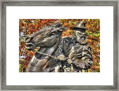 War Horses - Lieutenant General James Longstreet-a1 Commanding First Corps Autumn Gettysburg Framed Print by Michael Mazaika