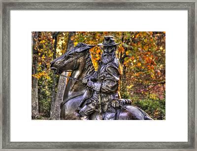 War Horses - Lieutenant General James Longstreet Commanding First Corps Gettysburg Framed Print by Michael Mazaika