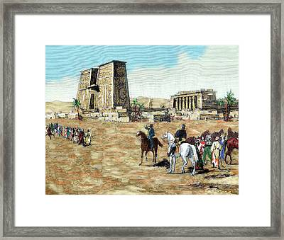 War In Egypt The Emissaries Of Arabi Framed Print by Prisma Archivo