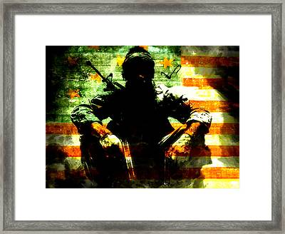 Framed Print featuring the painting War Is Hell by Brian Reaves