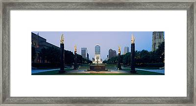 War Memorial In A City, Cenotaph Framed Print