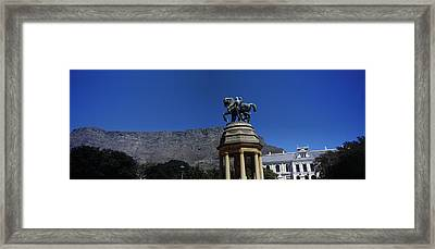 War Memorial With Table Mountain Framed Print
