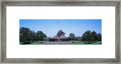 War Memorial With Washington Monument Framed Print by Panoramic Images