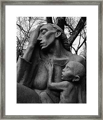 War Mother By Charles Umlauf In Black And White Framed Print