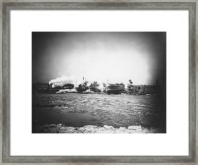War Nurse Cargo Ship Launch Framed Print by Hagley Museum And Archive