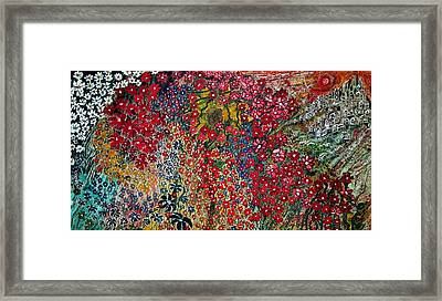 War Of Flowers Framed Print